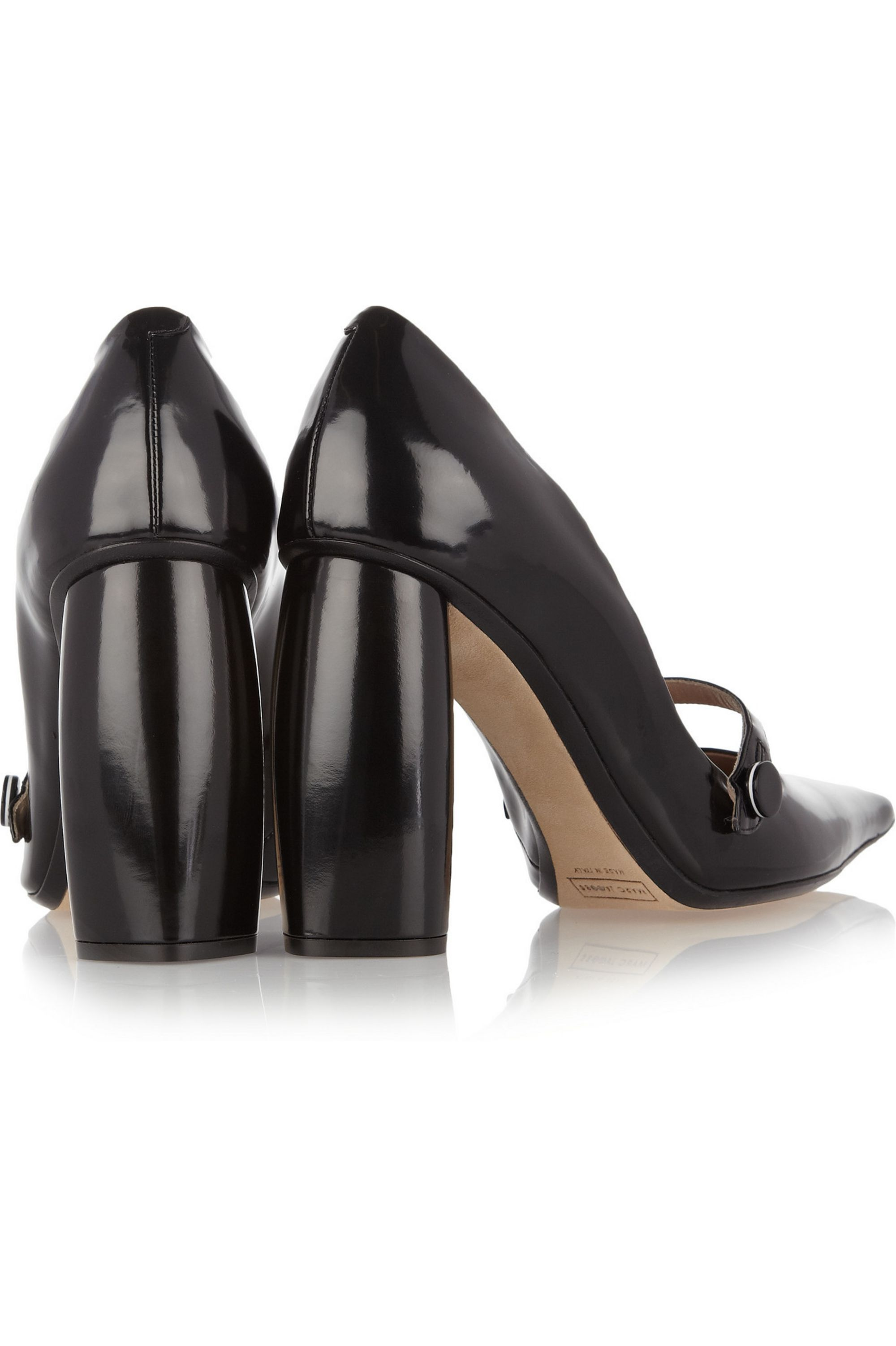 Runway Marc Jacobs Glossed-leather Mary Jane pumps