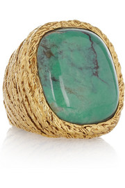 Aurélie Bidermann Miki gold-plated turquoise ring