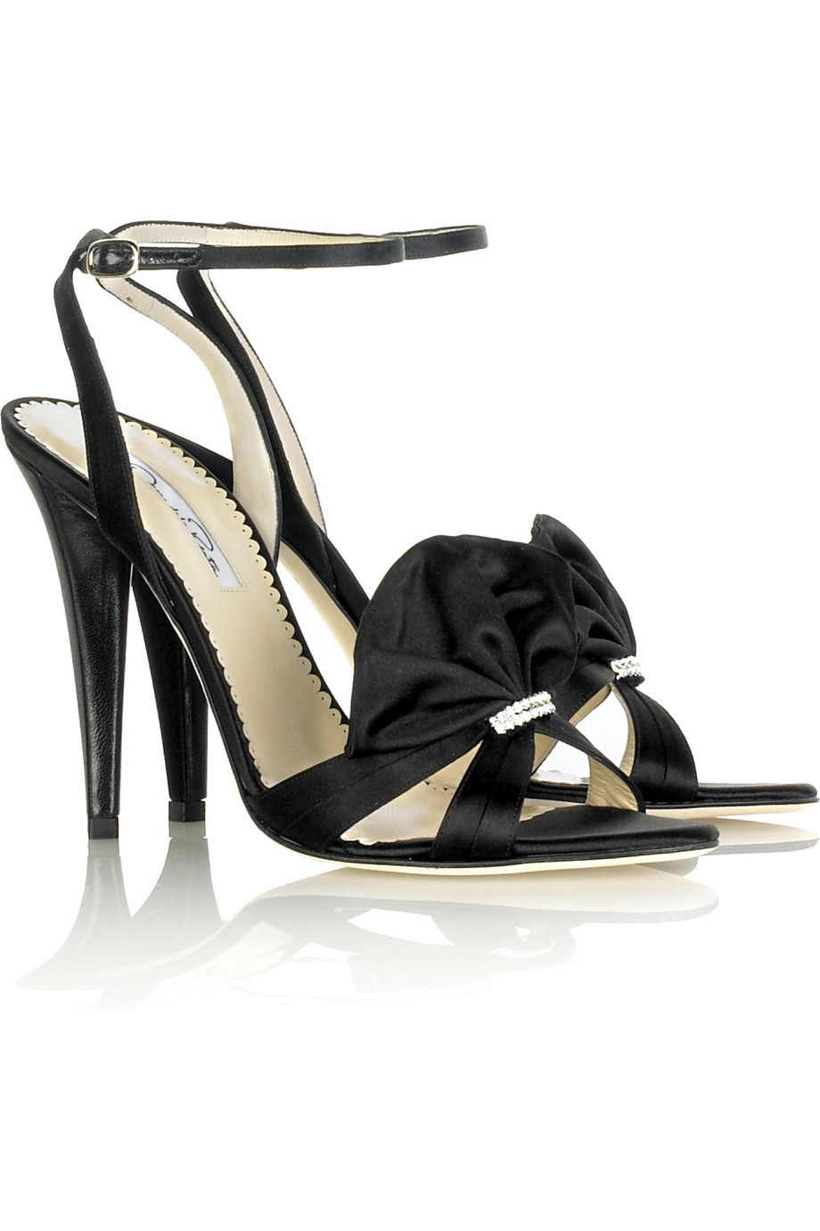 Oscar de la Renta Fan satin sandals