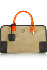 Loewe Amazona 600 leather and suede tote