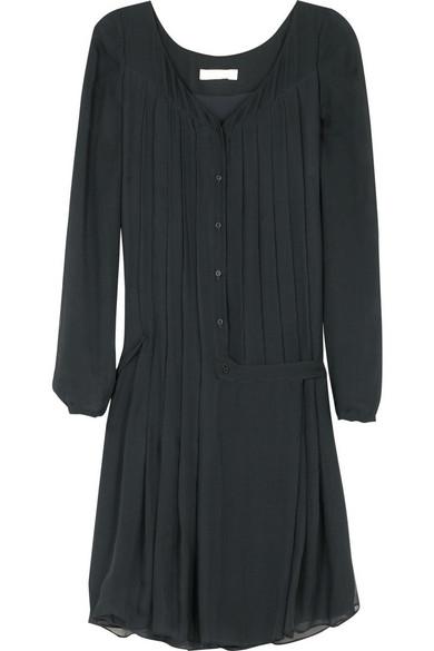 7548df4aa3 Chloé. Pleated silk-chiffon dress