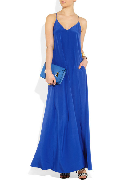 edd2d965373 J.Crew. Minuit silk crepe de chine maxi dress