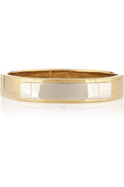 Saint Laurent Gold-plated sterling silver plaque bracelet