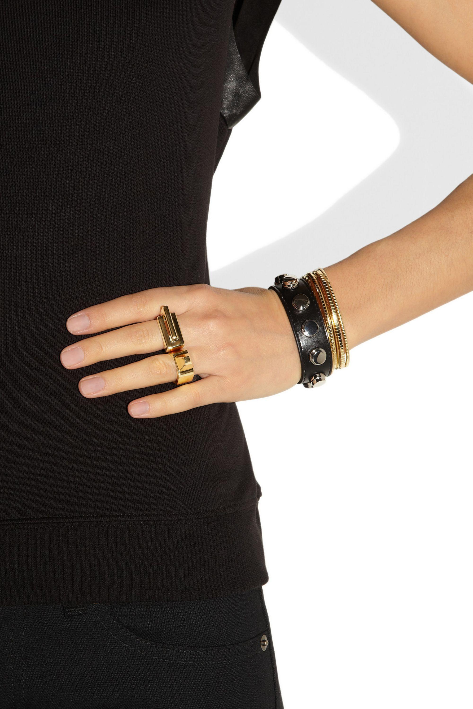 SAINT LAURENT Babylone gold-plated ring