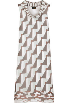 Fendi Padded collar dress