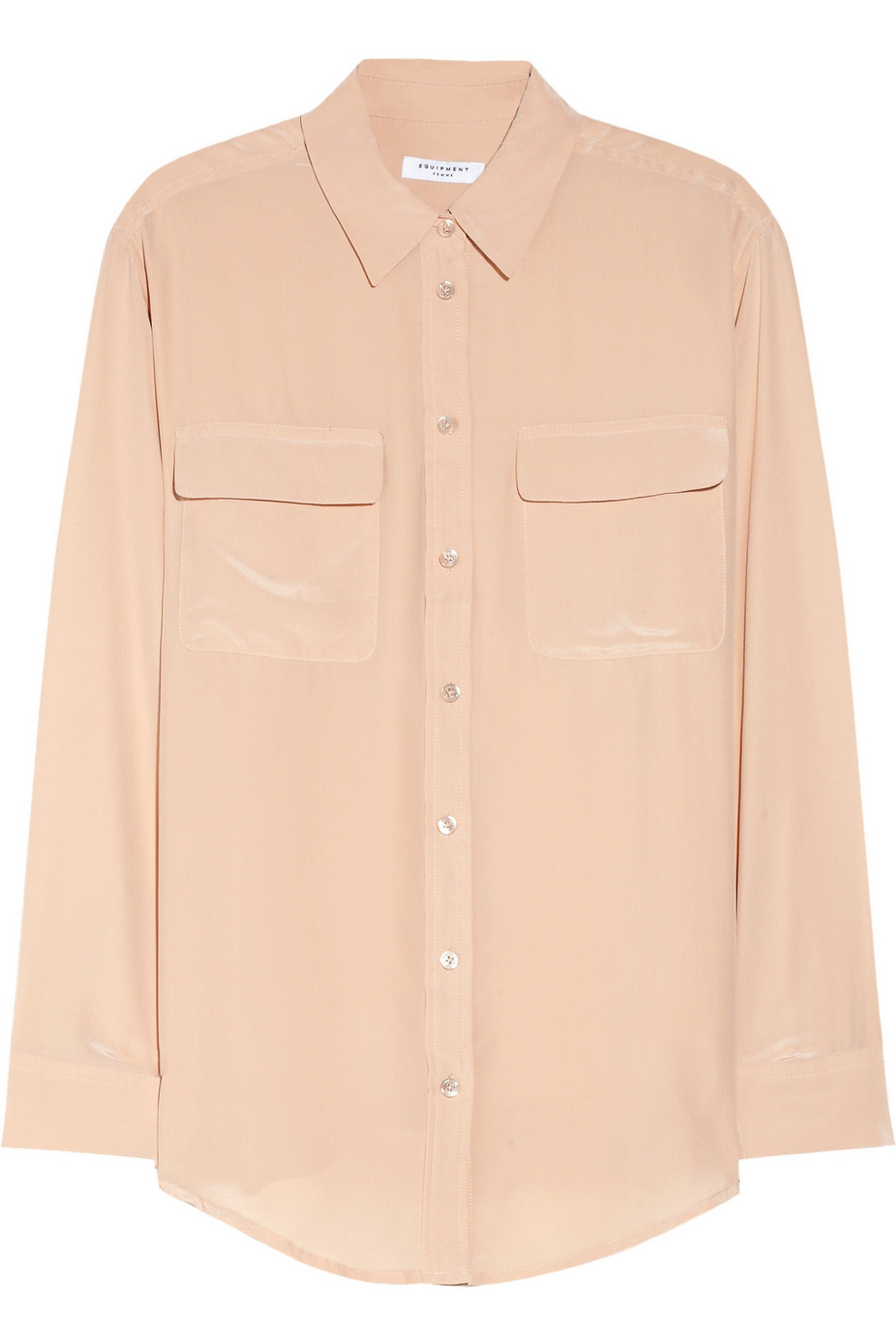 Equipment Signature Washed-Silk Shirt, Blush, Women's, Size: XS
