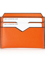 Valextra Textured-leather cardholder
