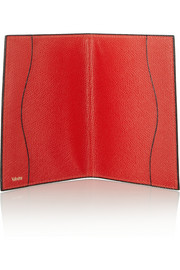 Valextra Textured-leather passport cover