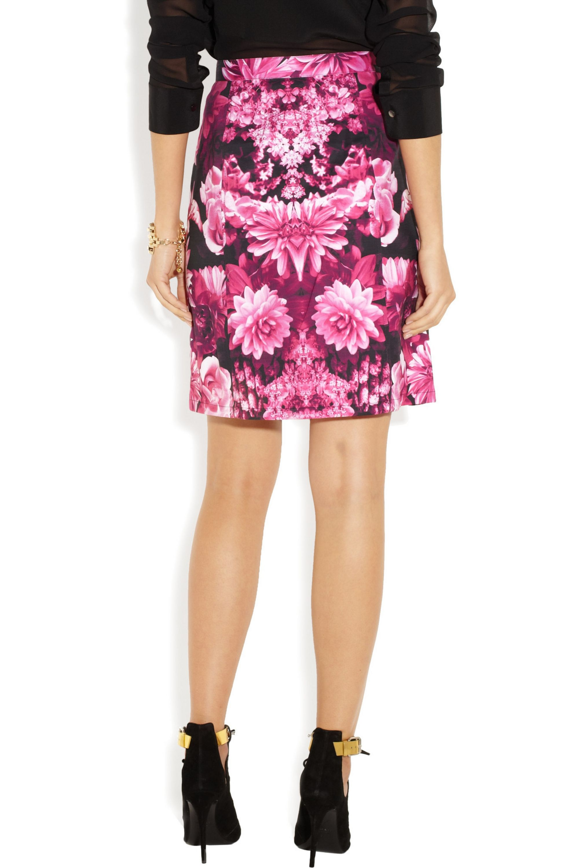 MICHAEL Michael Kors Floral-print cotton-blend skirt