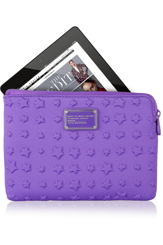 Marc by Marc Jacobs Reluctant Stars debossed neoprene mini tablet case