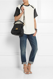 Classic Q Lil Ukita textured-leather shoulder bag