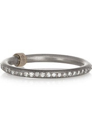 Ileana Makri Titanium, 18-karat white gold and diamond eternity ring