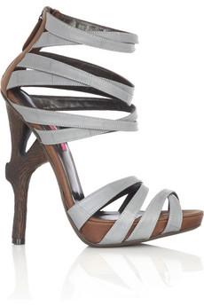 Emanuel Ungaro Branch heel sandals  | NET-A-PORTER.COM from net-a-porter.com