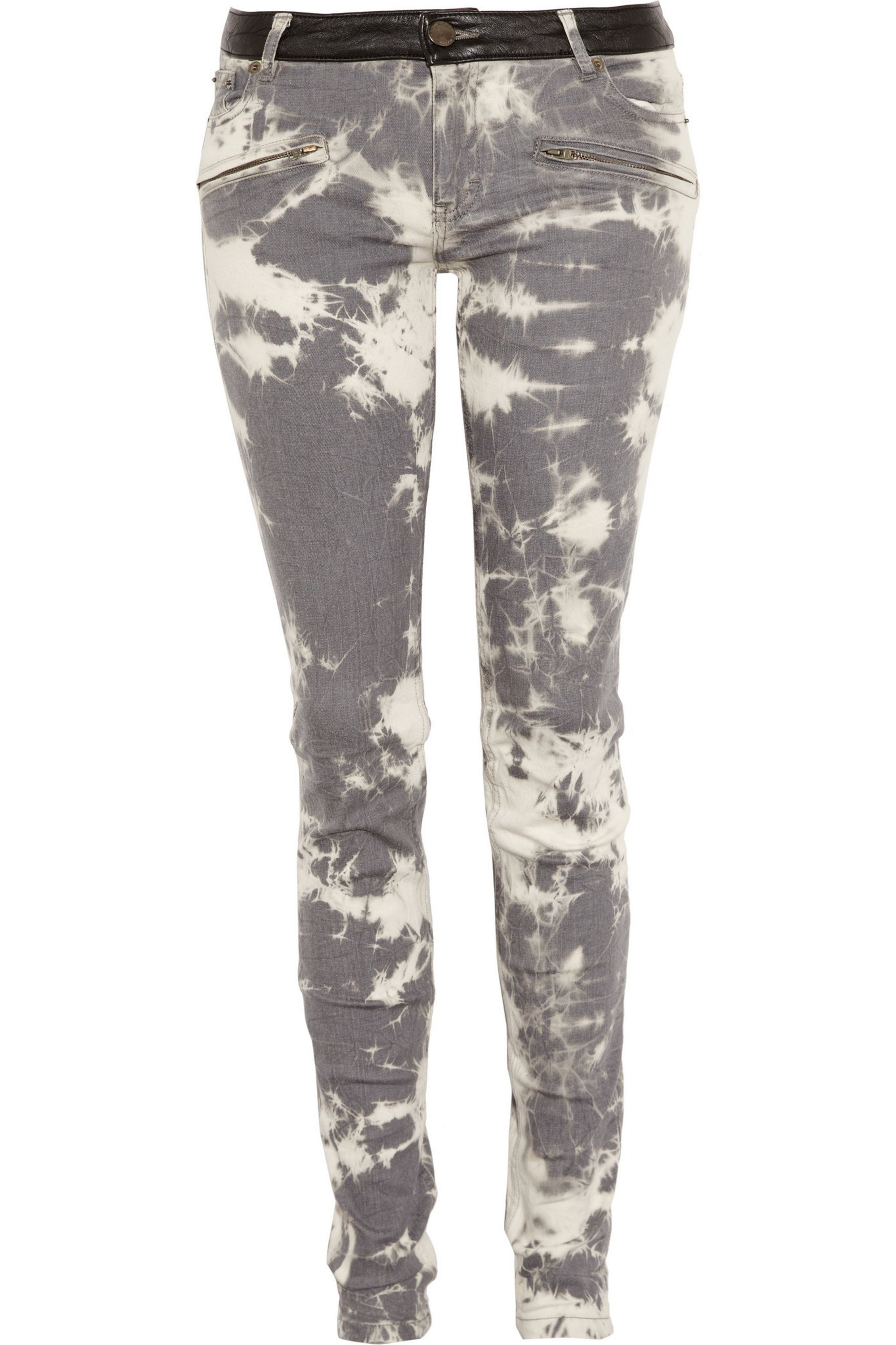 Maje Acre bleached-effect mid-rise skinny jeans