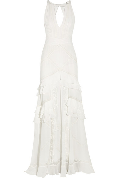 Temperley London | Marguerite lace-trimmed silk-chiffon gown | NET-A ...