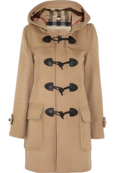 burberry wool felt duffle coat net a porter com. Black Bedroom Furniture Sets. Home Design Ideas