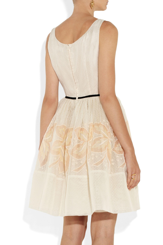 REDValentino Embroidered silk dress