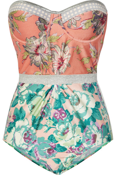 Sale alerts for Celestial floral-print underwired swimsuit Zimmermann - Covvet