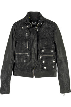 D&G DOLCE&GABBANA Leather biker jacket | NET-A-PORTER.COM from net-a-porter.com