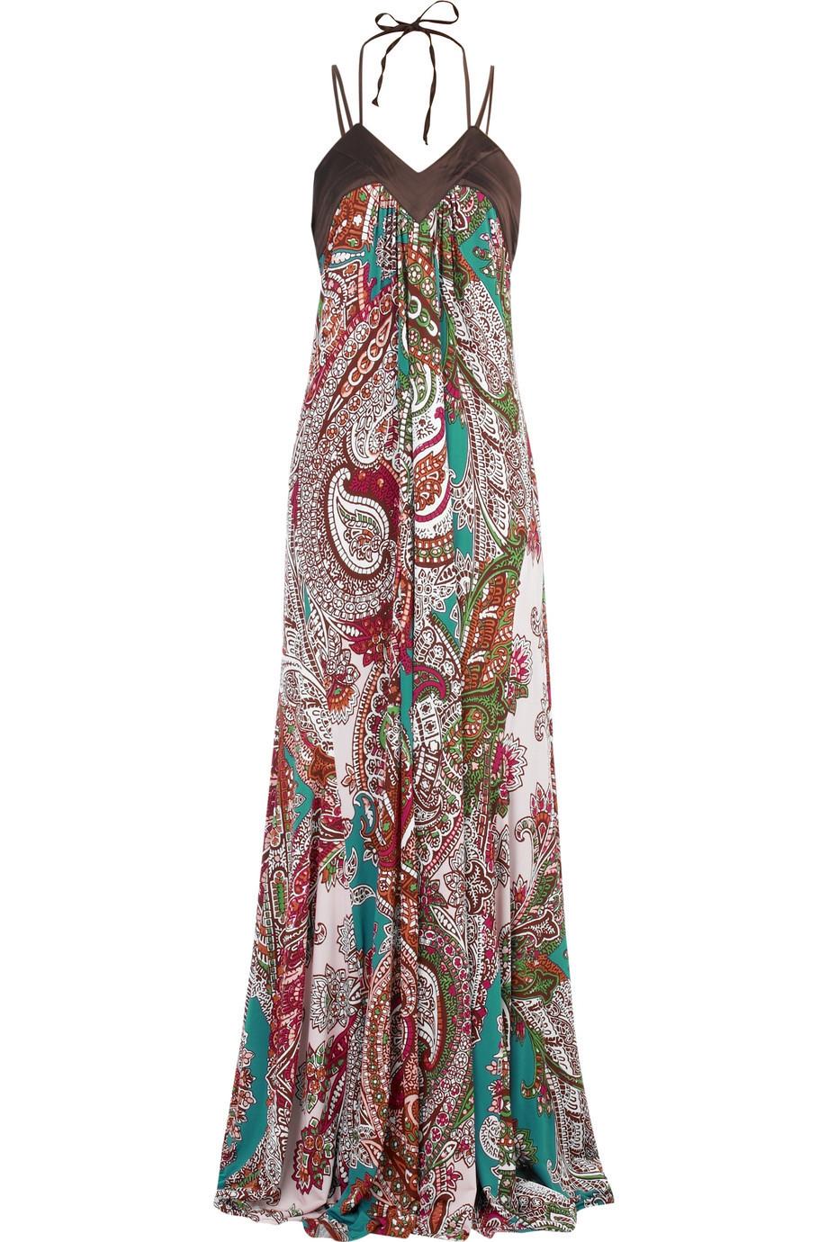 Just Cavalli Paisley print maxi dress NET A PORTER COM ...