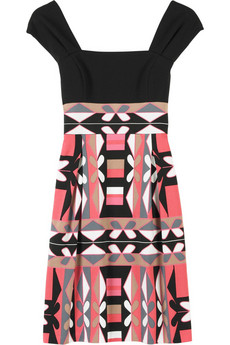 Tibi Mosaic print dress
