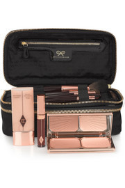 Anya Hindmarch Make-Up II medium patent leather-trimmed cosmetics case
