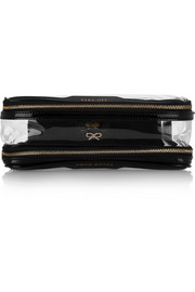 In Flight patent leather-trimmed travel case
