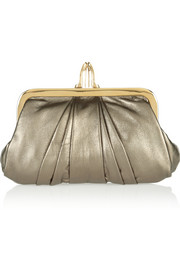 Christian Louboutin The Mini Loubi Lula metallic leather clutch