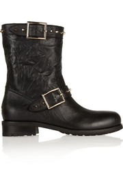 Jimmy Choo Dash studded leather biker boots