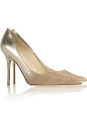 Jimmy Choo Abel degradé metallic leather and suede pumps