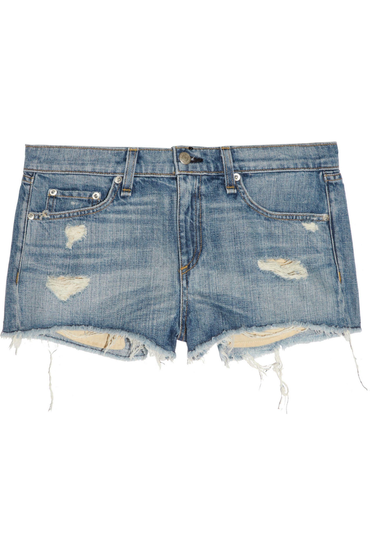 rag & bone Mila distressed denim shorts