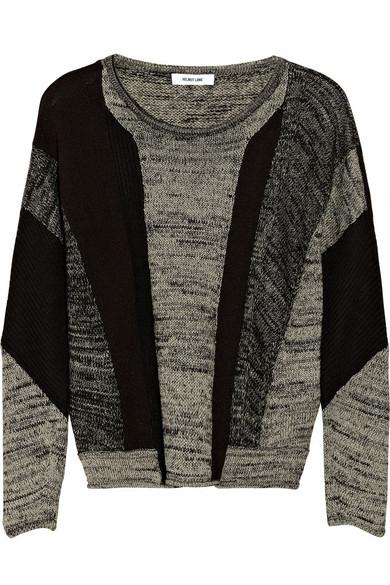22b4b0b6 Helmut Lang | Color-block linen-blend sweater | NET-A-PORTER.COM
