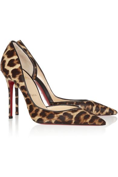 replica sneaker - Christian Louboutin | Iriza 100 leopard-print calf hair pumps ...