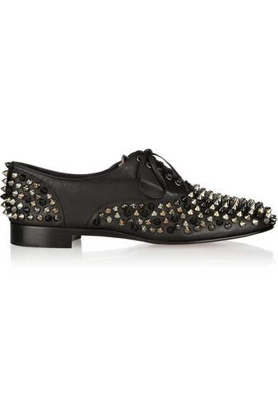 66c38b707e38 Christian Louboutin. Freddy spiked leather brogues