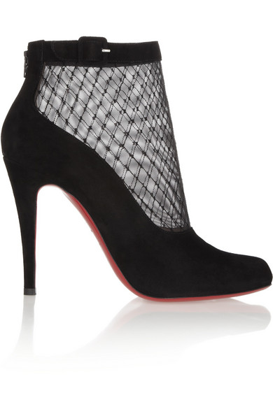 best website 3d9af 19bfa Resillissima 100 suede and mesh ankle boots