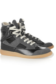 Maison Martin Margiela Suede, leather and mesh sneakers