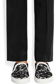 Givenchy Skate shoes in black and white leather with contrasting lace
