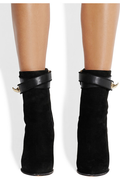 Givenchy. Shark Lock suede wedge ankle boots c5d31081087f