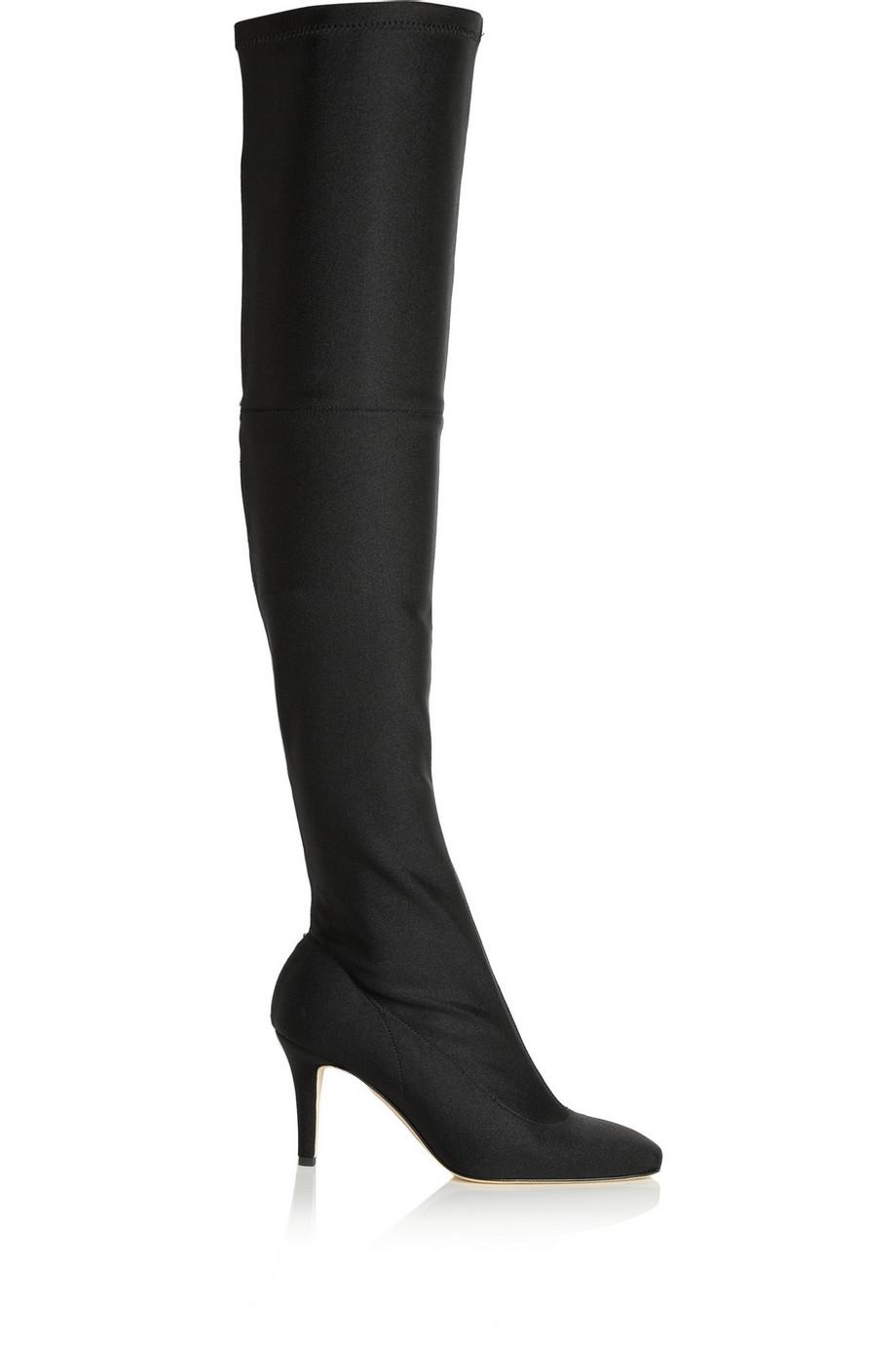 Oscar De La Renta Silvia scuba-jersey over-the-knee boots   Fancy Friday - Over the Knee Boots