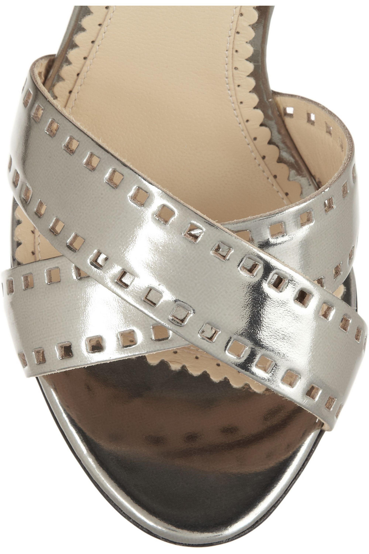Charlotte Olympia Take 110 metallic-leather sandals