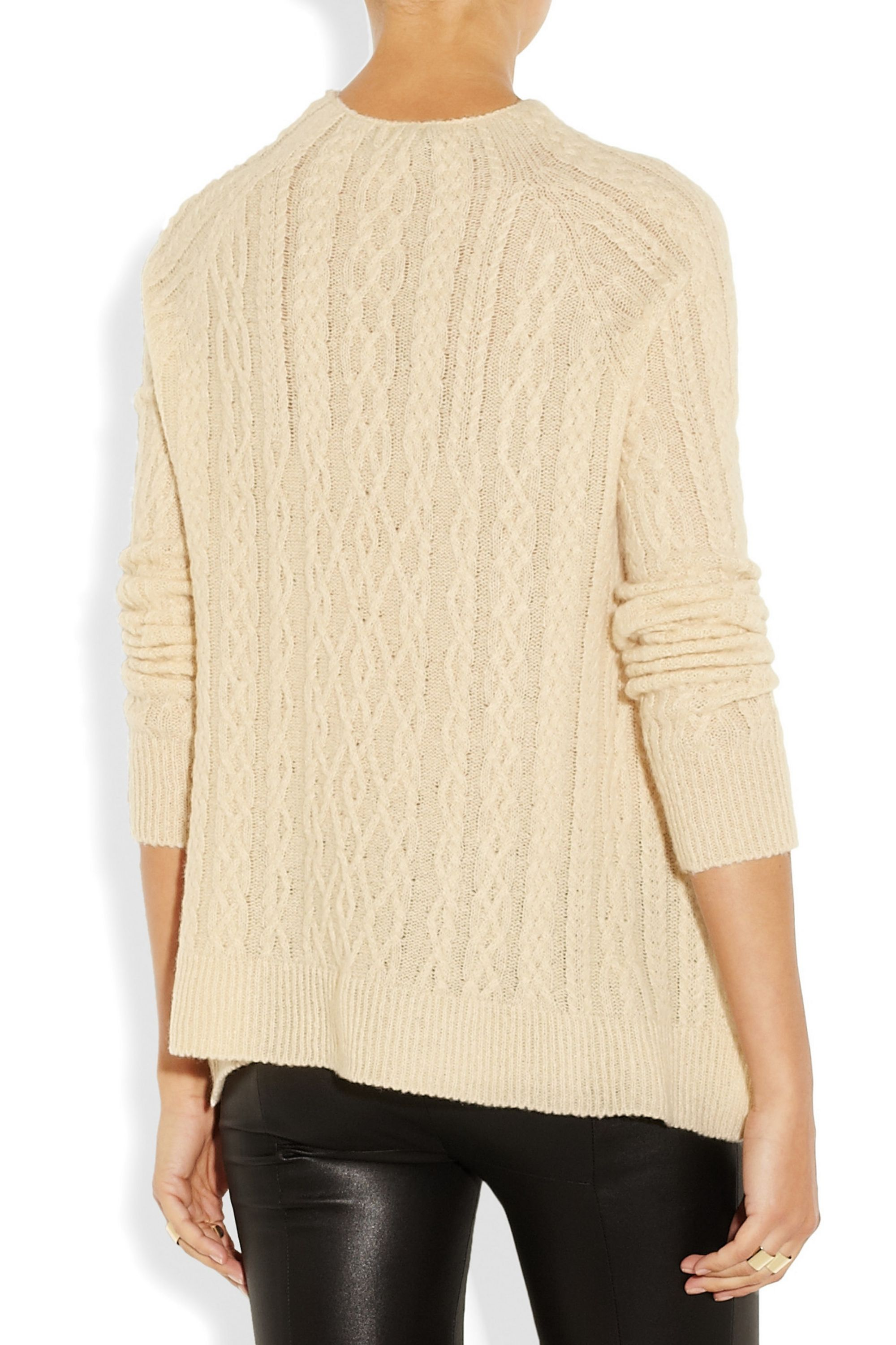 The Row Bea cable-knit cashmere and silk-blend sweater