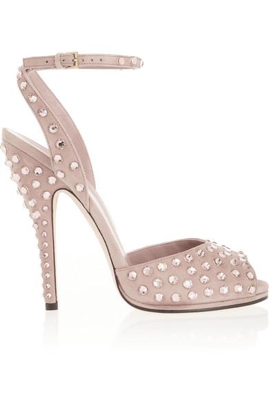 9d17d7d18 Gucci | Yulia Swarovski crystal-embellished suede sandals | NET-A ...