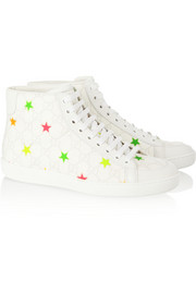 Gucci Brooklyn monogram star-print leather sneakers