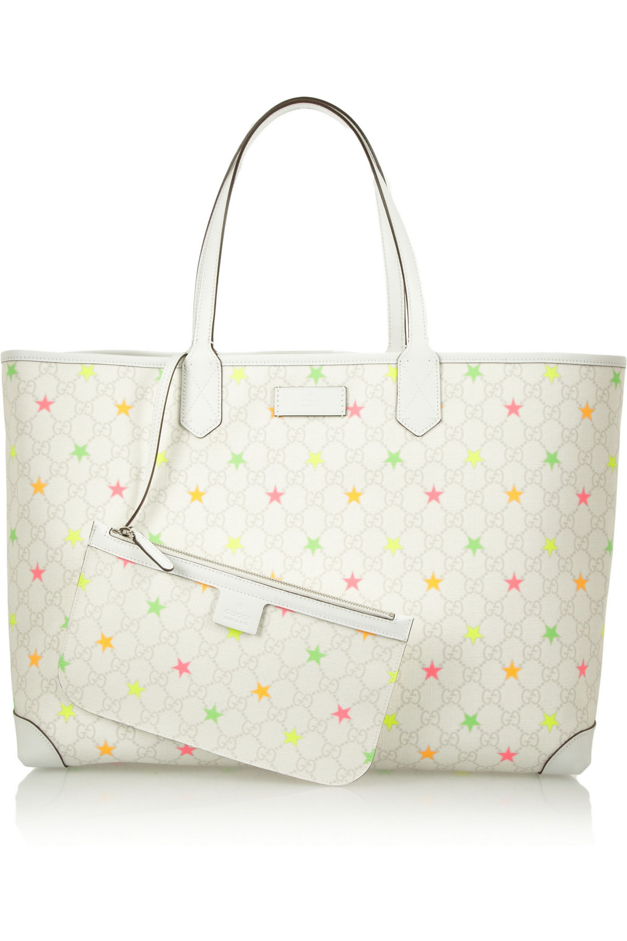 Off White Monogram Star Print Coated Canvas Tote Gucci Net A Porter