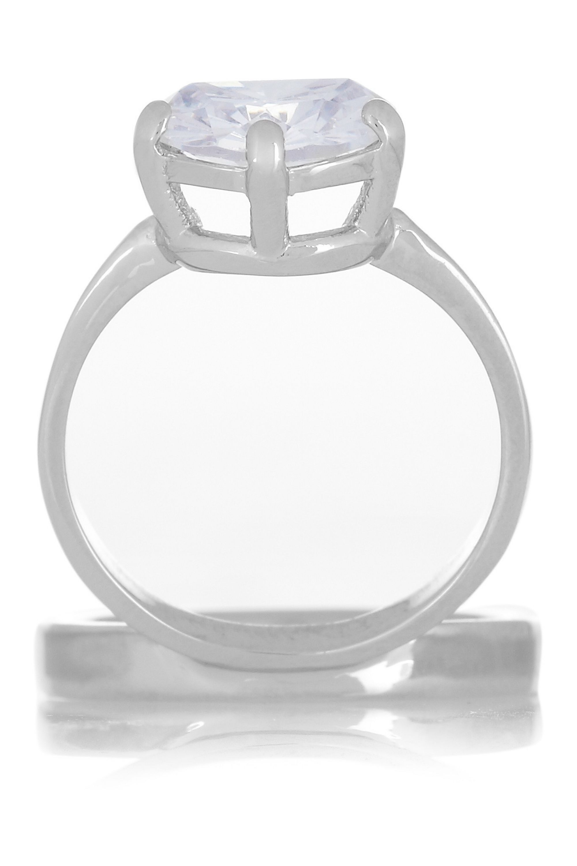 Maison Margiela Silver-tone crystal ring
