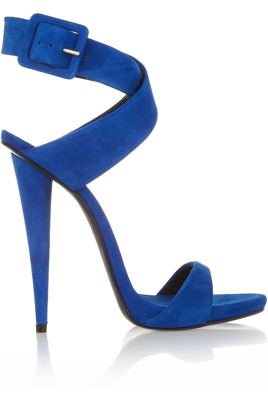 Royal blue Suede sandals | Giuseppe