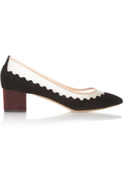 Chloé Variance suede and mesh pumps