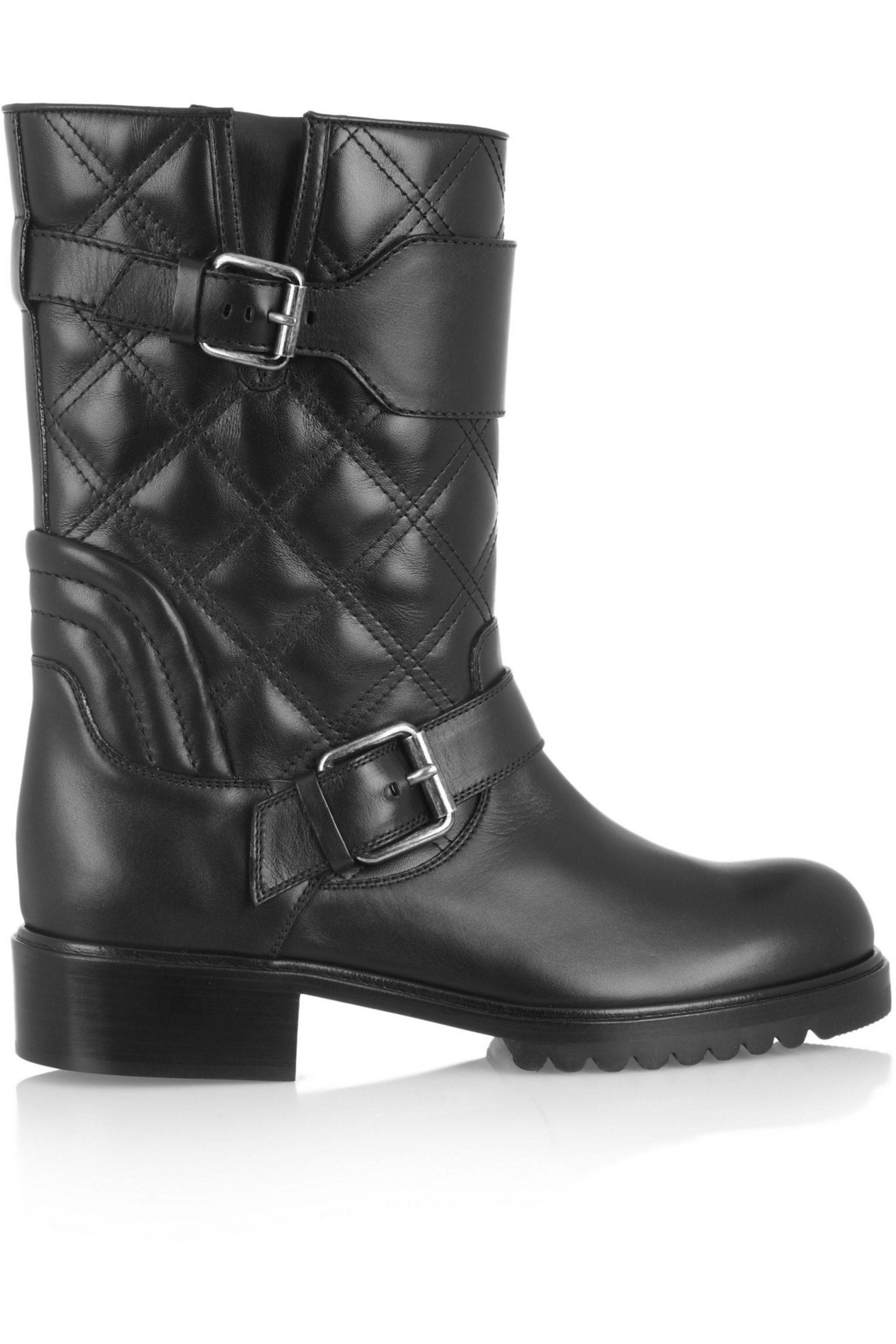 Runway Marc Jacobs Quilted leather biker boots