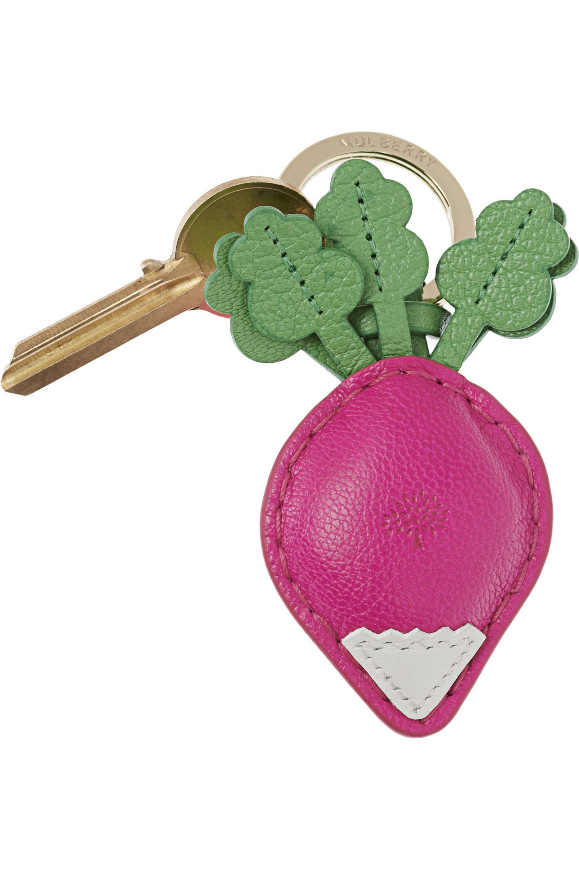 Mulberry Radish leather key fob