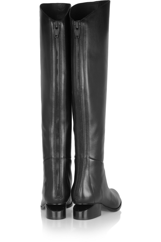 Alexander Wang Sigrid cutout-heel leather knee boots